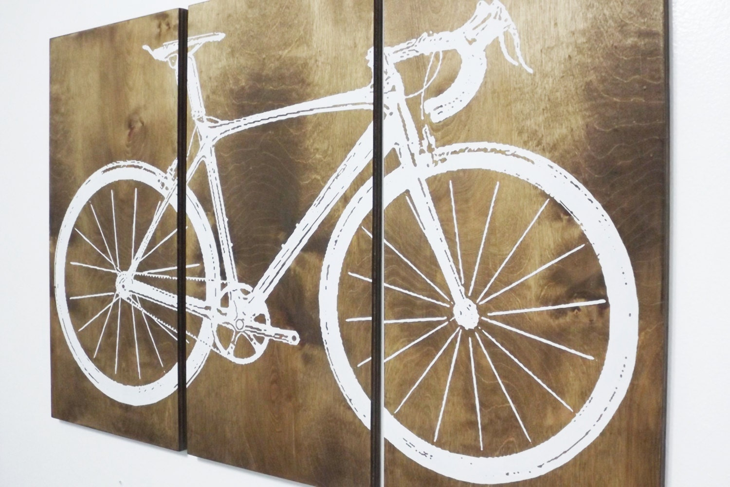 Bicycle Wall Art road bike / street bike wall art / bicycle screen print /