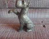 Vintage Cast Metal Dog Figurine