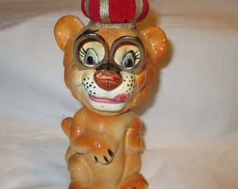 Vintage Sewing Lion Pincushion and Tape Measure