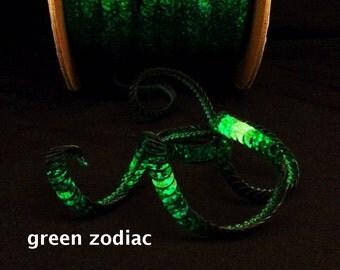 green zodiac (hologram) sequin trim--stretch and non-stretch