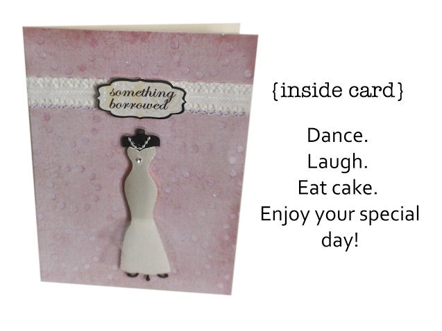 Wedding Card Say Yes To The Dress // Engagement Card // Card