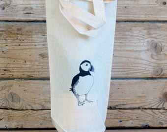 Puffin Bottle Bag With Handles