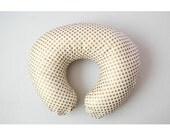 Gold Polka Dot Nursing Pillow Cover