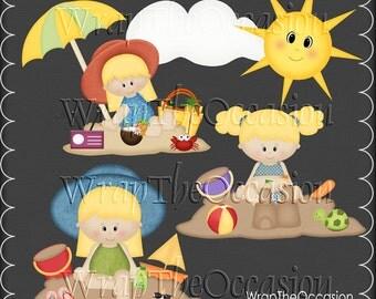Summertime Fun Blonde Kids Set3 - CU Clipart