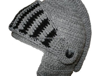 Knight Hat Hand Crocheted Hat