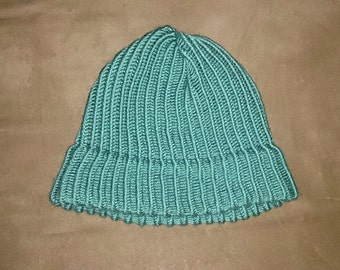 Light green winter hat
