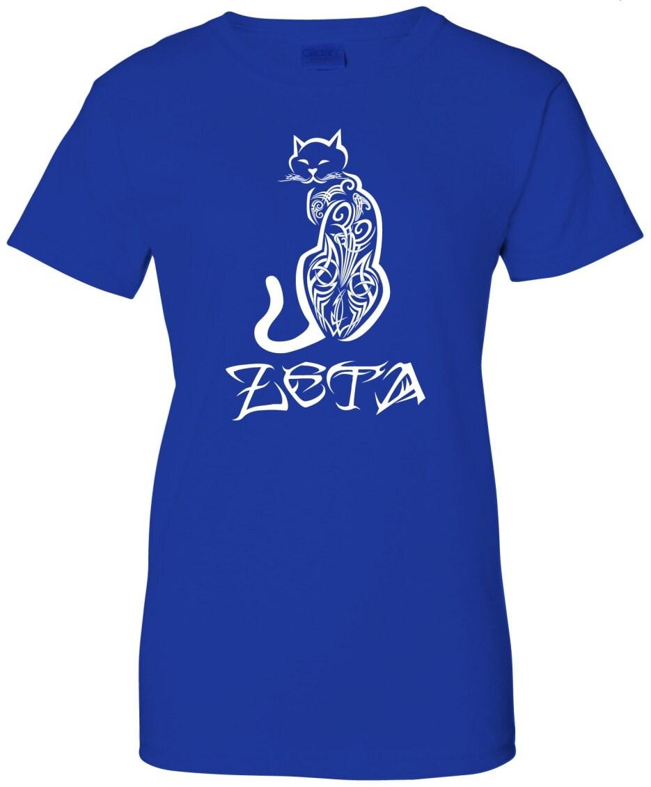 zeta phi beta tribal blue t shirt by greekelite on etsy. Black Bedroom Furniture Sets. Home Design Ideas