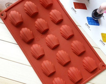 15-Madrid Leni shell soap mold Flexible Silicone Mold polymer clay mold Cake Mold Resin Mold Biscuit Mold mould fimo mold Cookie Mold