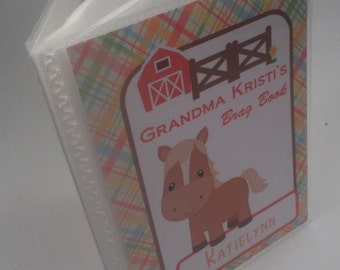 Photo Album Grandmas brag book personalized brag book baby girl photo album boy photo album newborn baby shower gift 4x6 or 5x7 horse 152
