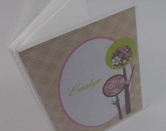 Baby Photo Album baby brag book Grandmas Brag Book Girl Photo Album Personalized Brag Book Brown Pink baby Girl album 4x6 or 5x7 picture 245