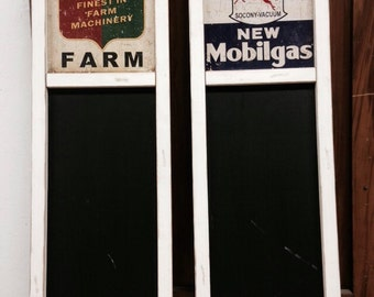REPRODUCTION vintage style chalkboard  with advertising