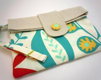 mini ipad cover, mini ipad case,mini ipad bag, mini ipad sleeve, tablet accessories, gadget cases, clutch aqua floral double flap