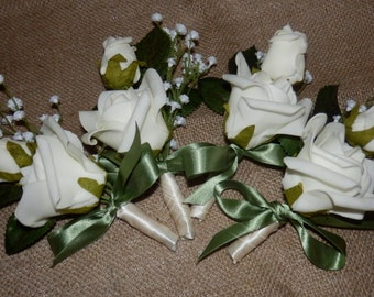 Boutonnieres. Grooms boutonniere.