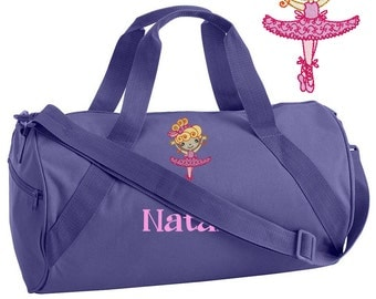 Personalized Ballet Bag for Dance - Dance Bag - Girl Ballet Bag - Toddler Ballet Bag - Childrens Ballet Bag - Embroidered Ballerina