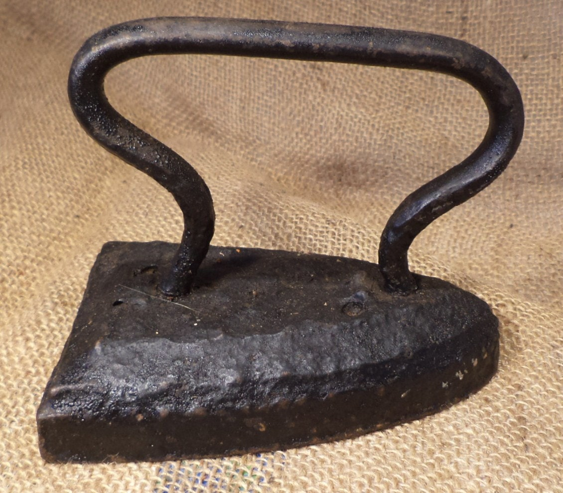 antique iron vintage clothes pressing iron repurpose as