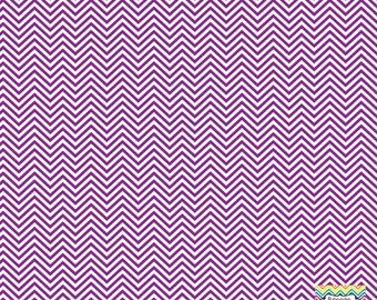 Purple and white mini chevron craft  vinyl sheet - HTV or Adhesive Vinyl -  zig zag pattern HTV1518