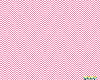 Pink and white mini chevron craft  vinyl sheet - HTV or Adhesive Vinyl -  zig zag pattern HTV1519