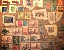 50 Vintage Postage Stamps Used Stamps Scrapbooking Journal Stamp Collection