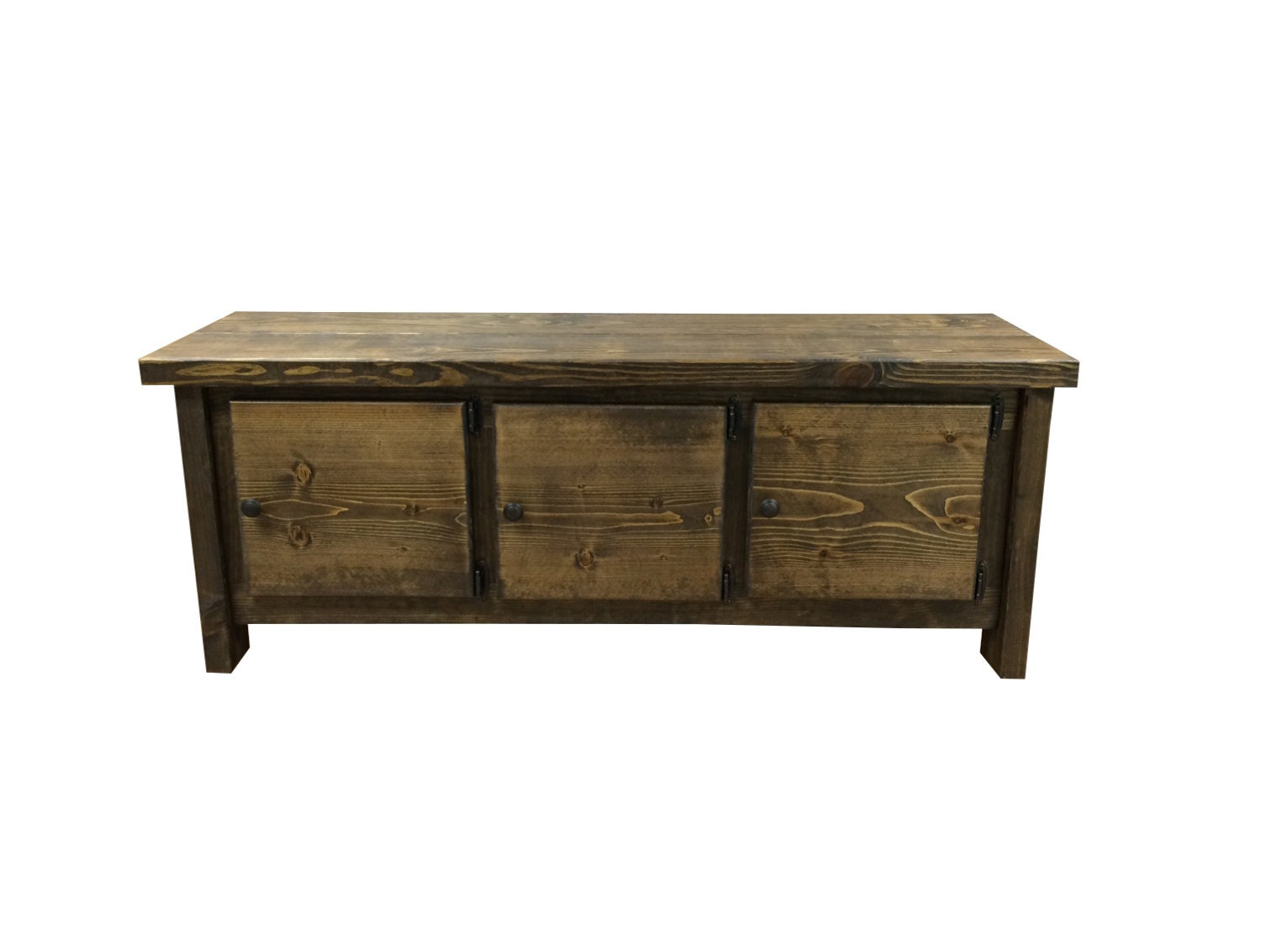 Rustic Storage Bench Coffee Table Or Media Table