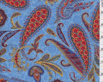 100% cotton fabric PUNCH PAISLEY by Hoffman California 36 x 42 S#J9246 yard