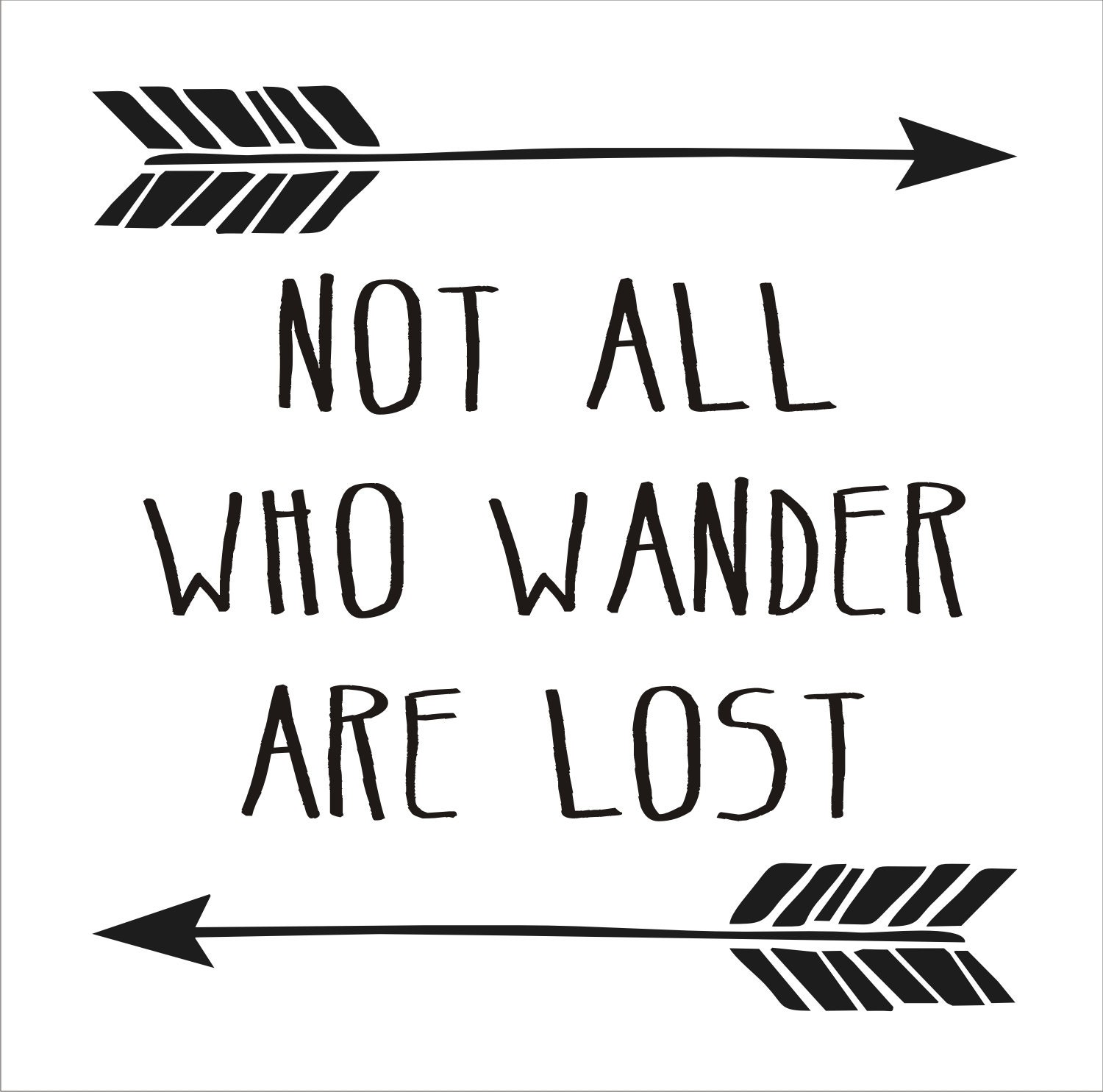 Not All Who Wander Are Lost - SIGN Reusable STENCIL-- 6 ...