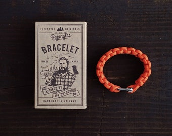 Handmade Paracord Lumberland Bracelet/Armband Mens/Womens Orange