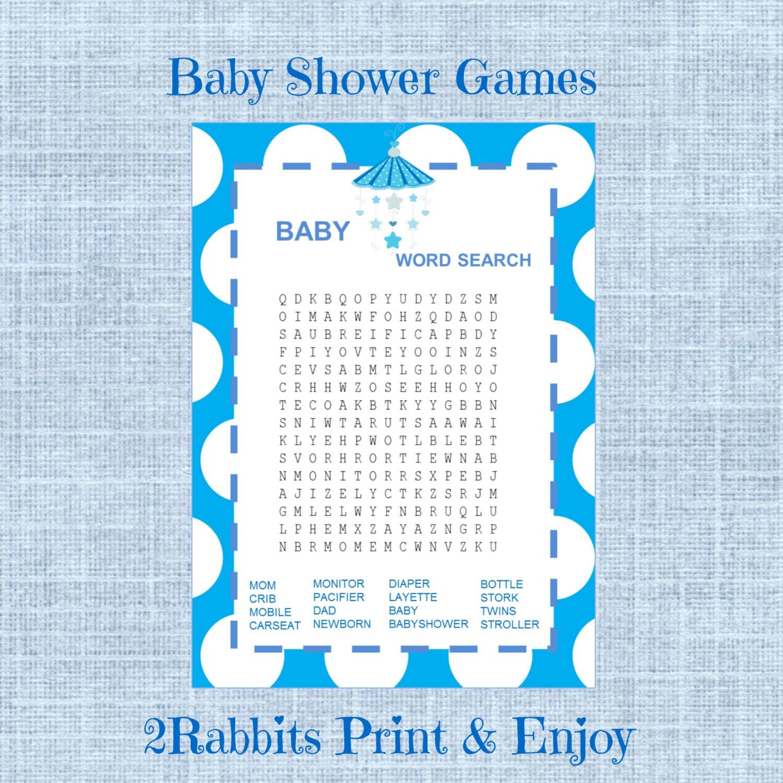 baby shower word search game boy baby shower by 2rabbitsprintenjoy