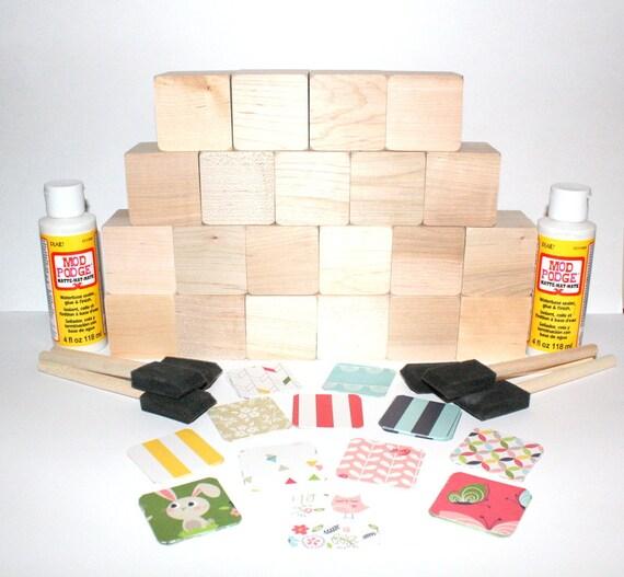 Diy baby shower craft children 39 s baby blocks baby girl for Child craft wooden blocks