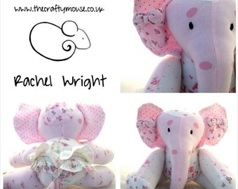 Keepsake Elephant = Made From Special Items of Clothing