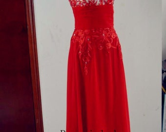 Prom dress, Red Prom Dress, Red Prom Dresses, Floor Length Open Back Prom Dress, Red Evening Dress, Red Bridesmaid Dress