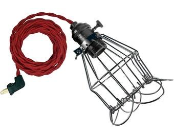 GRANDMA CAGE LAMP w/ black-brass socket
