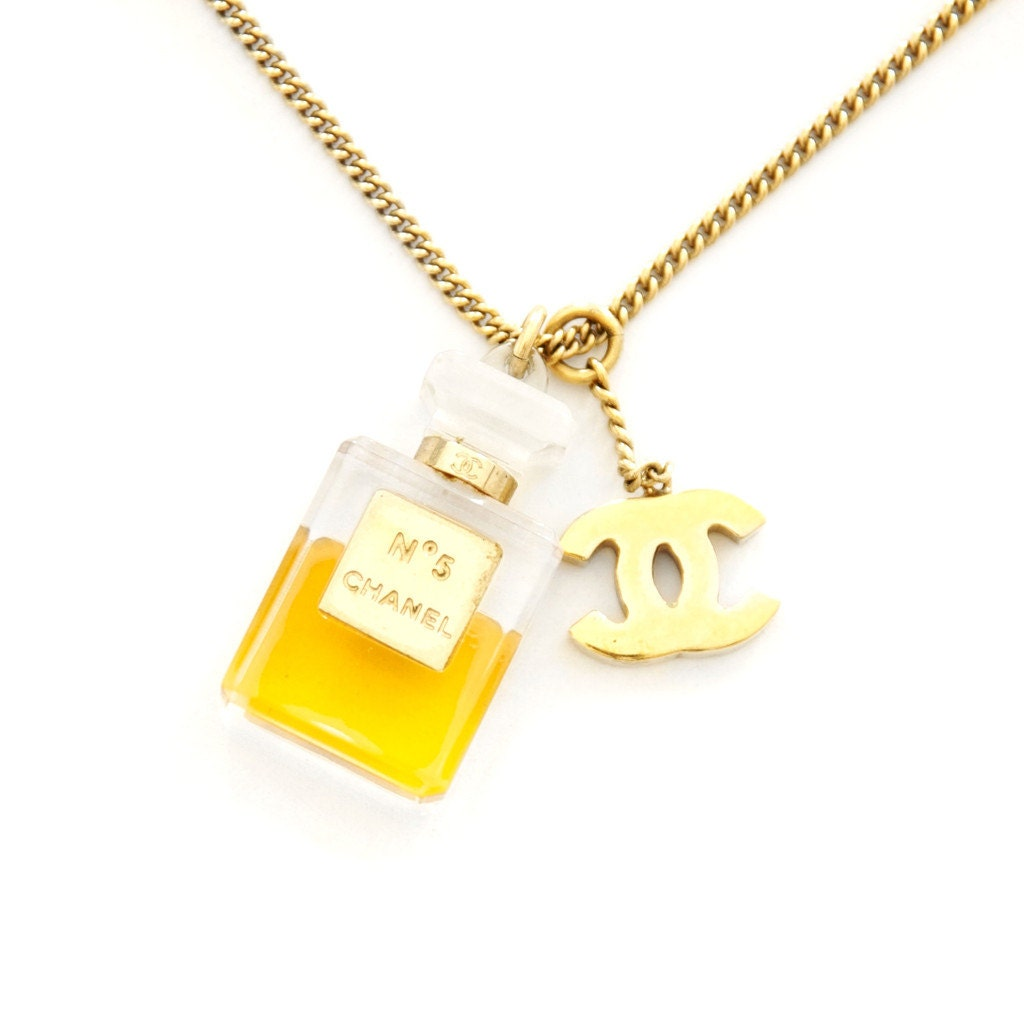 Authentic Chanel No5 Perfume Bottle Charm Necklace