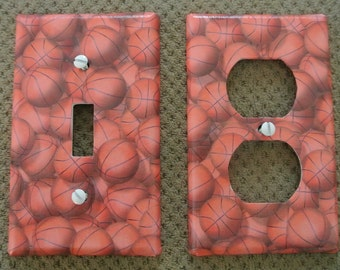 Switch plate cover - Basketball