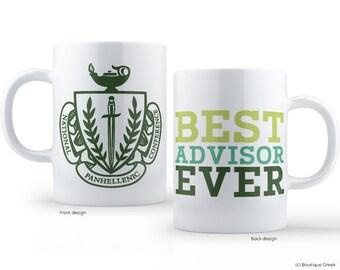 NPC Panhellenic Best Advisor Ever Sorority Greek Mug