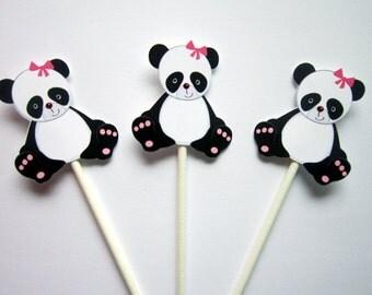 Panda Bear Cupcake Toppers