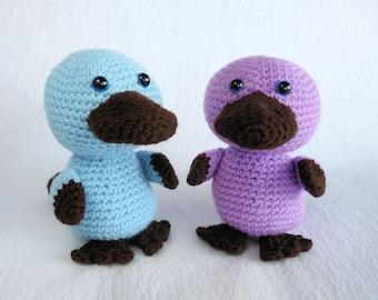 Crochet Platypus Toy, Baby Platypus, Amigurumi Platypus, Australian Animal Toy, Mini Amigurumi, Australian Made