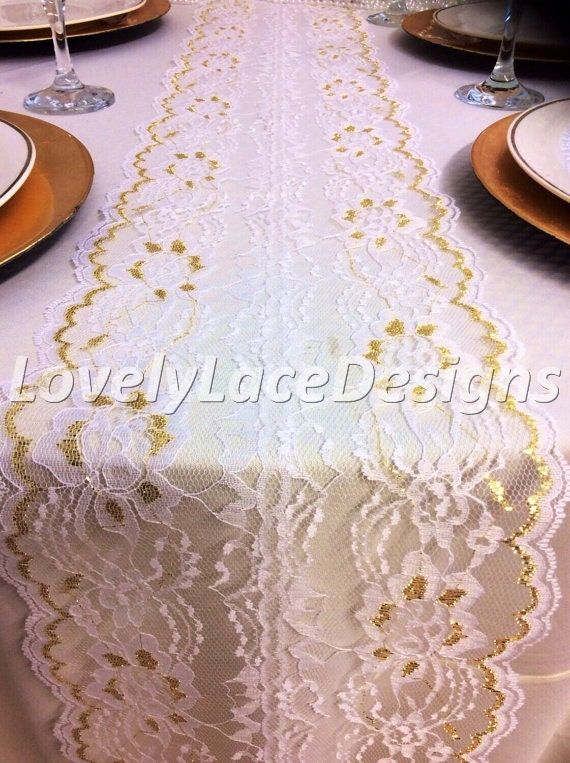 Fall weddings 12ft 20ft lace table runner by for 12 ft table runner