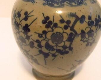 Takahashi blue gray vase
