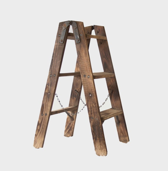 vintage french ladder wooden a frame ladder country style decoration jardinire antique ladder