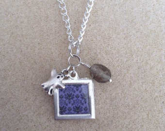 Haunted Mansion Wallpaper Charm Necklace