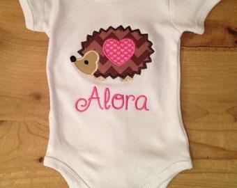 Valentine's Day Hedgehog Shirt or Baby Bodysuit