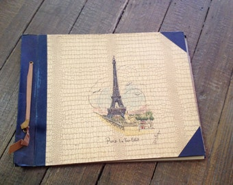 Vintage 1960s Paris-La Tour Eiffel DaPon Scrapbook