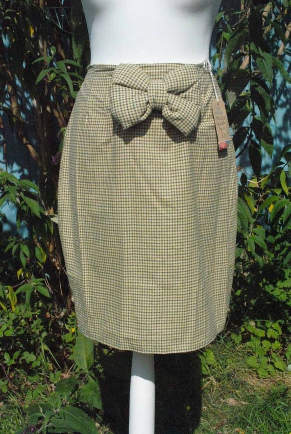 1940s style tweed pencil skirt size 14 by ckbvintagefashion