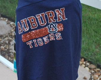 Auburn University Tigers Game Day Jersey Knit A Line Skirt Upcycled T-Shirts XS, S, M, L, XL Available, each one unique