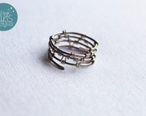 Unisex Ring, Wire Wrapped jewelry, Woven Ring, Man, Woman, Handmade