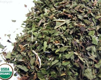 DRIED PEPPERMINT LEAF - 8 oz. Cut and Sifted OrganicTea Herb Wiccan Herb Herbal