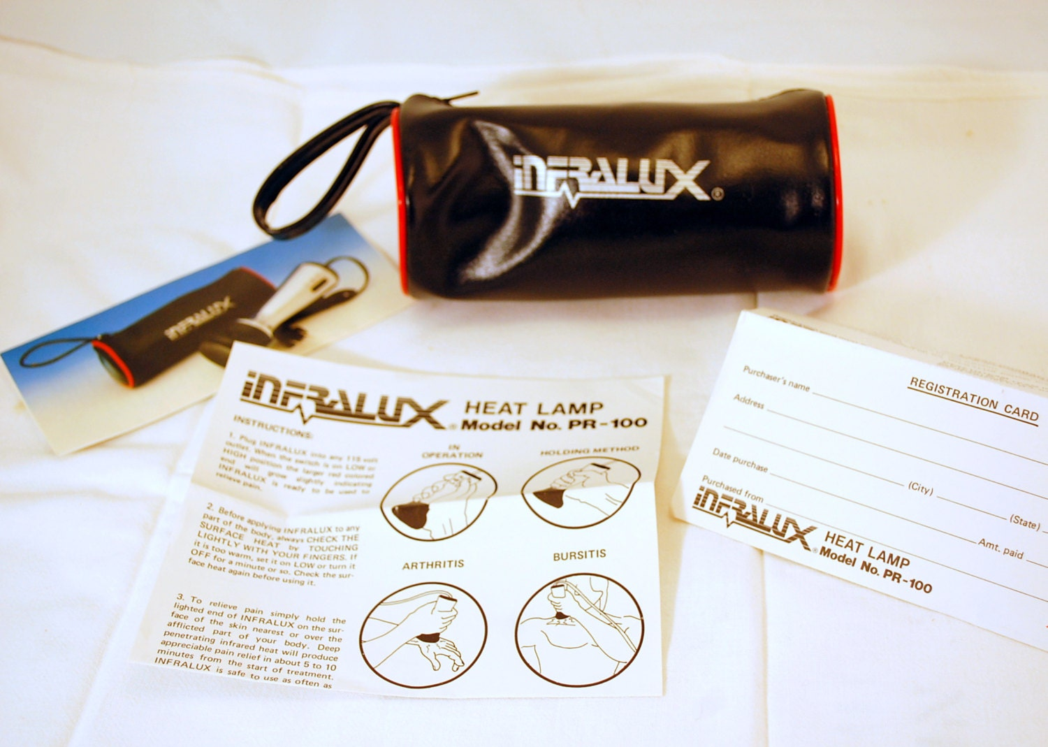 1980 S Vintage Infralux Pr 100 Heat Lamp Massager With