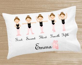 Personalized Kids' Pillowcase - Ballerina Pillowcase for Girls - Ballet Pillow Case - Custom Ballerina Pillow Slip