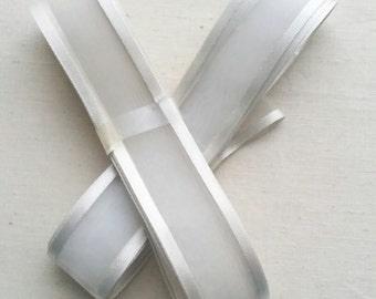 Satin and sheer craft/decorative white ribbon supplies. Joblot