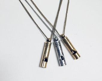 Mini whistle pendant, delicate and classic